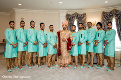 Different view of the Indian wedding groomsmen