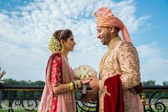 Maharani and Raja outdoors prior to the ceremony