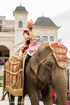 See this ravishing groom riding an elephant
