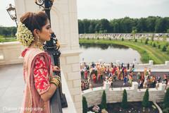 Maharani observing the baraat