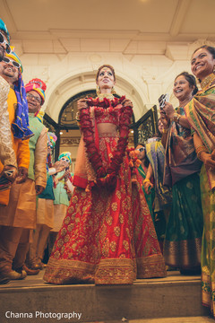 Indian bride entering the ceremony