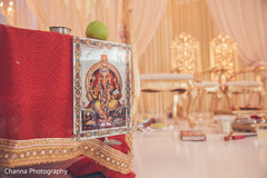 Decor details of the Indian wedding reception