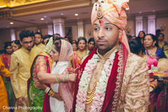 Indian groom after the ceremony