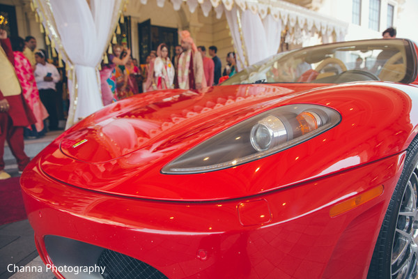 Detail of car used by newlyweds