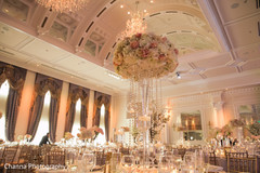 Decoration of the Indian wedding venue