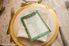 Indian wedding reception details