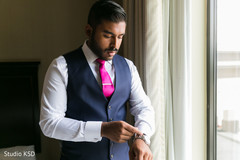 See this charming Indian groom getting ready.