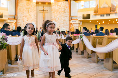 Indian flower girls and pageboy photo.