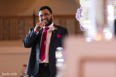 Impressive Indian wedding reception speech moment.