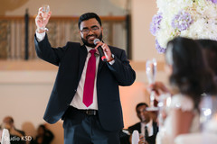 Indian groom having a great time