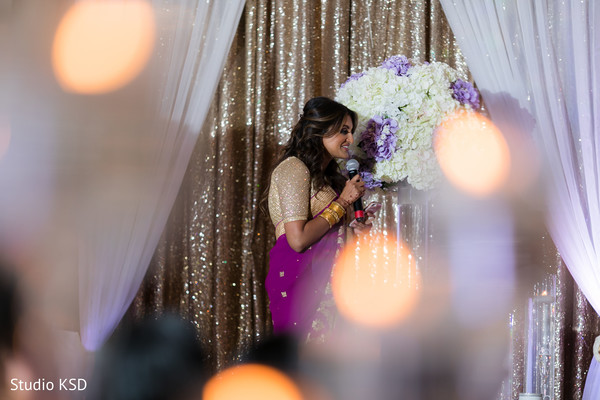 Lovely Indian bridesmaid speech moment.