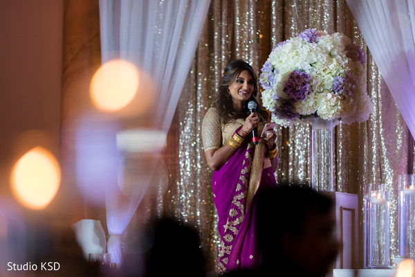 Traditional indian  reception speech scene.