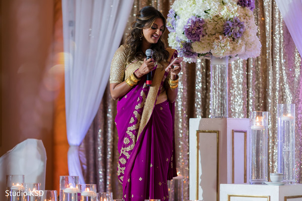 Adorable Indian bridesmaid speech moment.