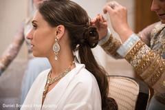 Indian bride's hair design