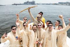 Indian groom with groomsmen