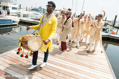 Indian guest playing the dhol