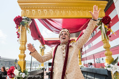 Joyful Raja during the pre wedding rituals