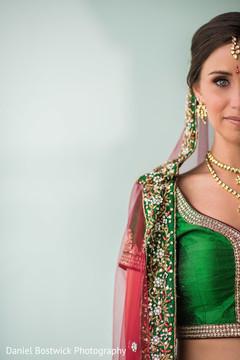 Enchanting Maharani staring at the camera
