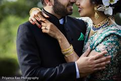 Maharani and Raja kissing outdoors