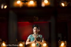 Spiritual moment of the Maharani