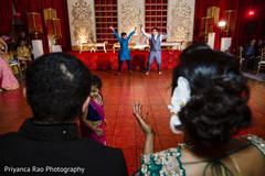 Guests performing a choreography at the venue