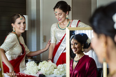 Bridesmaids with the Maharani prior to the ceremony