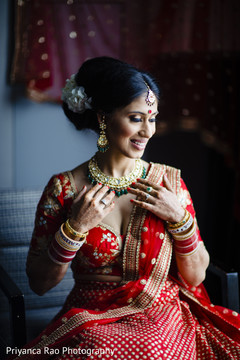 Dazzling Maharani showing her jewelry and accessories