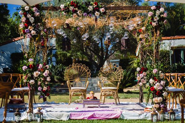 Mandap floral arrangement details