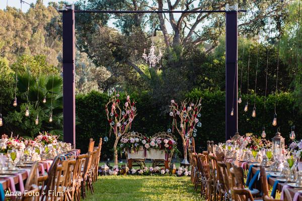 Indian wedding reception table setup