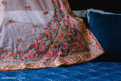 Details of lengha's fabric