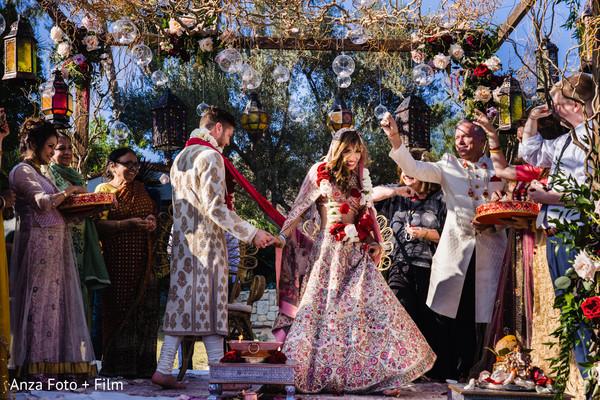 Indian bride and Raja under the mandap