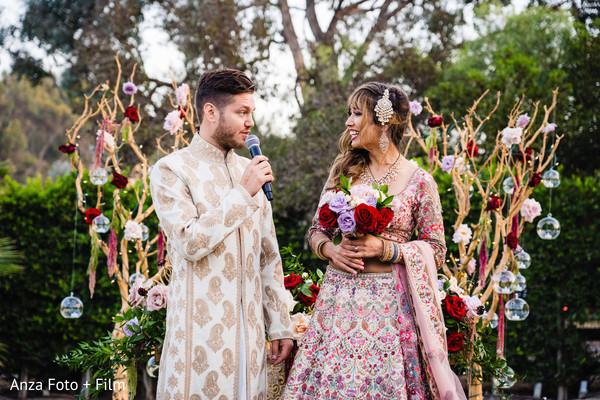Indian groom dedicating some words to the Maharani
