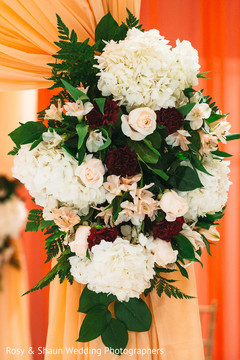 Floral arrangement details of the celebration