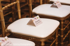 Reserved chairs for special guests