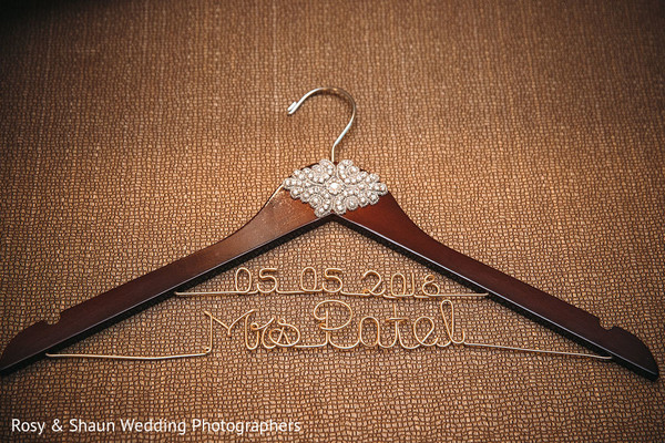 Hanger with newlyweds initials