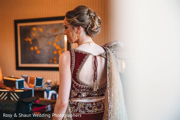 Maharani showing her lengha design