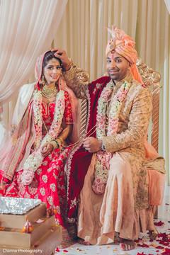 Maharani and Raja during the pre wedding rituals