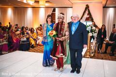 Indian groom entering the wedding ceremony
