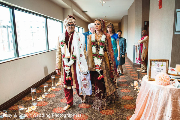 Indian wedding venue hallway