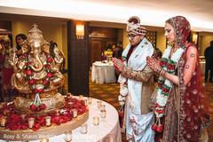 Indian couple praying