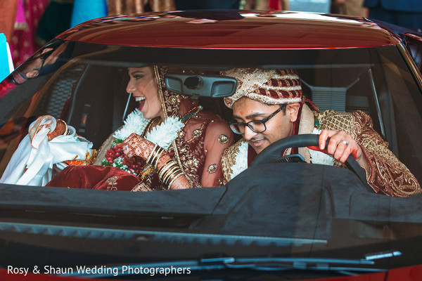 Indian newlyweds ready to departure