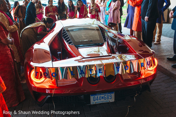 Exotic indian wedding transportation