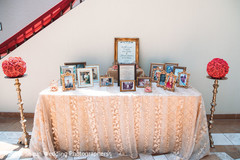 Lovely indian wedding in memory of table