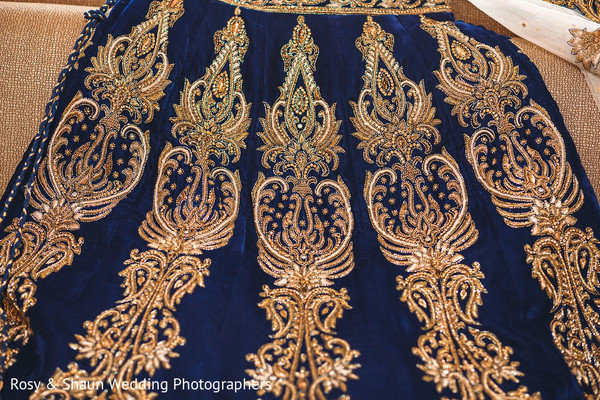 Indian bridal lengha details