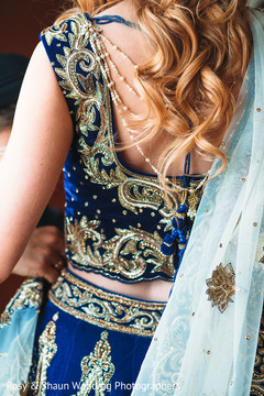 Beautiful bridal lengha top details