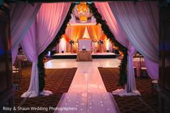 Indian wedding reception entrance