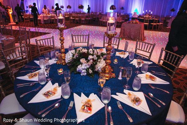 Indian wedding reception venue decor