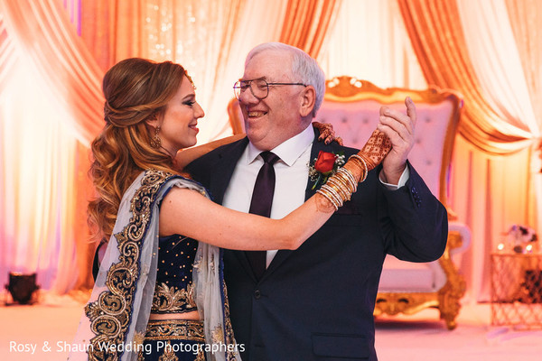 Lovely maharani dancing with her father