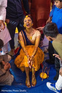 See this joyful haldi celebration.