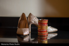 Indian bridal chora's and ceremony shoes.